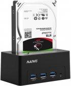 """Док-станція Maiwo для HDD 2.5""""/3.5"""" SATA/SSD + 3xUSB 3.0 (K308H) - зображення 6"""