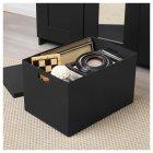 Коробка з кришкою IKEA TJENA 35x50x30 см чорна 103.743.48 - зображення 2