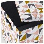 Коробка з кришкою IKEA TJENA 30x30x30 см біла чорна рожева 203.982.21 - зображення 2