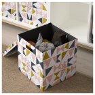Коробка з кришкою IKEA TJENA 30x30x30 см біла чорна рожева 203.982.21 - зображення 3