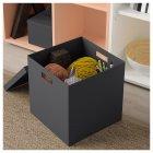 Коробка с крышкой IKEA TJENA 30x30x30 см черная 503.954.76 - изображение 3