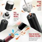 Подарочный набор Uncle Viner Power Couple, электроштопор с аккумуляторами и аксессуарами, Best seller в США - изображение 8
