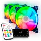 Набір Performa Aardwolf 120 мм RGB -вентиляторів + Hub + ДУ (APF-120RAINBOW-KIT) - зображення 1