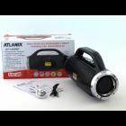 Портативна Bluetooth колонка з FM і MP3 BoomBox 12W Atlanfa AT-1829BT Black - зображення 3