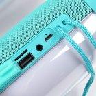 Портативная акустическая колонка T&G с LED-подсветкой и шнурком для переноски Bluetooth 10Вт Бирюзовая (TG157stereo-05) - изображение 4