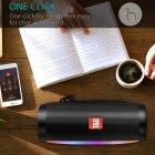 Портативна акустична колонка T&G з LED-підсвічуванням і ремінцем для перенесення Bluetooth 10Вт Чорна (TG157stereo-01) - зображення 6
