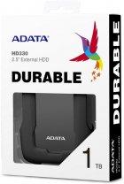 "Жорсткий диск ADATA Durable HD330 1TB AHD330-1TU31-CBK 2.5"" USB 3.1 External Black - зображення 4"