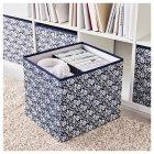 Коробка IKEA DRÖNA 33x38x33 см подарункова синя біла з візерунком 102.819.57 - зображення 2