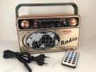 Аккумуляторный радиоприемник аудиосистема с пультом управления и Bluetooth радио Kemai Retro (MD-503BT) - изображение 9