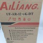 Акустична система Ailiang акумуляторна бездротова Bluetooth колонка з мікрофоном радіо і вбудованим сабвуфером комбо підсилювач пульт Чорна (AR-12) - зображення 8