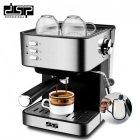 Кавоварка еспресо ріжкова напівавтоматична кавова машина DSP Espresso Coffee Maker KA-3028 850W - зображення 1