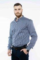 Рубашка в полоску Time of Style 511F054 XS Темно-синий/белый - изображение 3