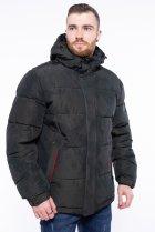 Куртка однотонная Time of Style 191P98854 XXL Темно-зеленый - изображение 1