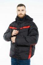 Куртка Time of Style 157P131104 46 Черно-красный - изображение 3