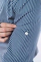 Рубашка в полоску Time of Style 511F054 XXXL Темно-синий/белый - изображение 6