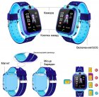 Годинникофон Edelin Дитячі смарт-годинник LBS Розумні годинник з вологозахист IP67 Blue - зображення 2