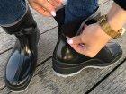 Резиновые сапоги Selena с утеплителем 41 25,7 см черные - изображение 8