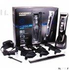 Машинка для стрижки волос и бороды профессиональная аккумуляторная с 7 насадками Geemy GM-800 - изображение 1