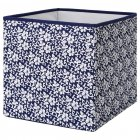 Коробка IKEA (ІКЕА) DRÖNA 33х38х33см подарункова синя біла з візерунком (102.819.57) - зображення 1