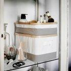 Коробка с крышкой IKEA (ИКЕА) RABBLA 25x35x20см коричневая бежевая (603.481.25) - изображение 8