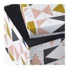 Контейнер з кришкою IKEA (ІКЕА) TJENA 18х25х15см білий чорний рожевий (703.982.14) - зображення 5