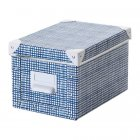 Контейнер для зберігання IKEA FJÄLLA 18x26x15 см білий синій 504.325.44 - зображення 1