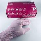 Перчатки медицинские нитриловые смотровые VitLux розовые (уп 100шт 50пар) размер XL (10586) - изображение 3