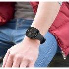 Годинник Sanda Arnold з ремінцем з каучуку + секундомір, будильник Чорний - зображення 6