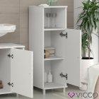 Шкаф для ванной Vicco Fynn, 30x95, белый - изображение 3