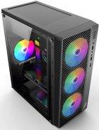 Корпус 1stPlayer A7-500BS-G6 500 W Black - зображення 5