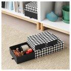 Набор коробок IKEA (ИКЕА) SAMMANHANG 3 шт черные белые (104.138.54) - зображення 2