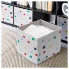 Коробка IKEA (ІКЕА) DRÖNA 33х38х33см біла з точками (603.995.15) - зображення 3
