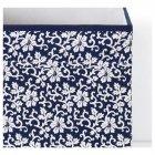Коробка IKEA (ИКЕА) DRÖNA 33x38x33см подарочная синяя белая с узором (102.819.57) - изображение 3