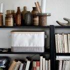 Коробка з кришкою IKEA (ІКЕА) RABBLA 25х35х20см коричнева бежева (603.481.25) - зображення 4