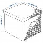 Коробка IKEA (ИКЕА) KVARNVIK 30x30x30см серая (504.128.81) - изображение 7