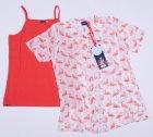Комплект (рубашка + майка) Tom-Du ZOE 128-134 см Бело-светлый с коралловым (2000000009060) - изображение 1