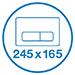 К инсталляции подходят клавиши Valsir размером 245х165 мм