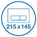До інсталяції підходять клавіші Valsir розміром 215х145 мм