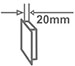Ультратонка конструкція - 20 мм